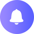 price alert icon - a bell inside of a purple circle